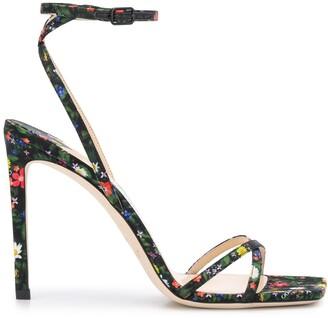 Jimmy Choo Metz 100mm floral-print sandals