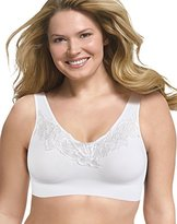 Just My Size Women's Pure Comfort Lace Bra, Nude, 1X