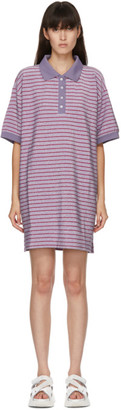MM6 MAISON MARGIELA Purple Striped Short Dress