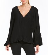 C/Meo Dream Chaser Pleated Bell Sleeve Blouse