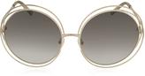Chloé CARLINA CE 114S Metal Oval Women's Sunglasses