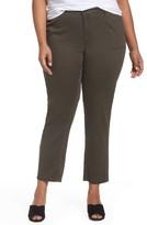Sejour Plus Size Women's Twill Ankle Pants