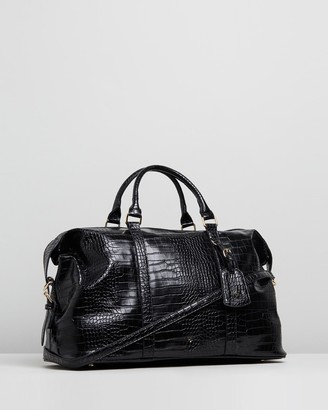PETA AND JAIN - Women's Black Weekender - Reagan Weekender Bag - Size One Size at The Iconic