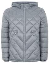 Topman Gray Hooded Liner Jacket