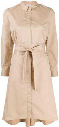Peserico Wrap-Tie Waist Shirt Dress
