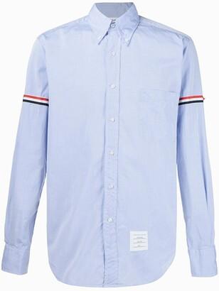 Thom Browne Striped-Detail Long-Sleeved Shirt