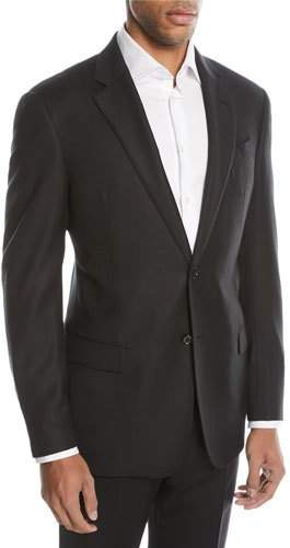 Emporio Armani G-Line Textured Two-Button Sport Jacket, Black