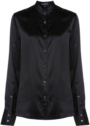 Ann Demeulemeester band collar long sleeve blouse