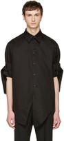 Yang Li Black Belted Sleeves Shirt
