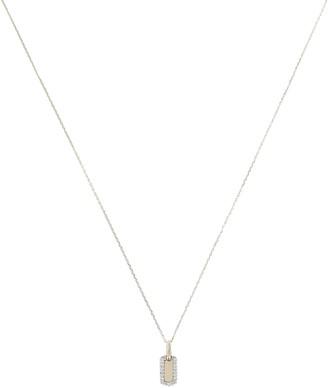 Adina Tiny Pave Dog Tag Necklace