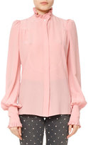 Isabel Marant Sloan Silk Puff-Sleeve Blouse