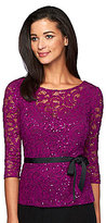 Alex Evenings Petite Illusion Lace Blouse