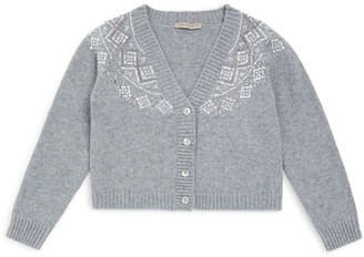 Ermanno Scervino Embellished Pattern Cardigan (6-16 Years)