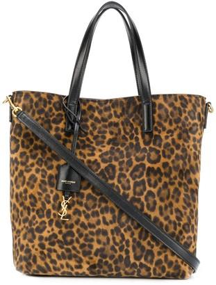 Saint Laurent Toy leopard-print tote bag