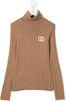 Gucci Kids GG embroidered jumper