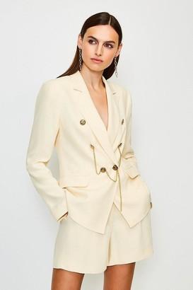 Karen Millen Chain Detail Double Breasted Jacket