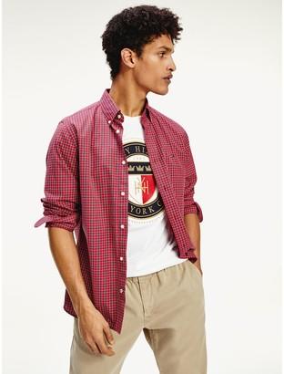 Tommy Hilfiger Regular Fit Cotton Poplin Check Shirt