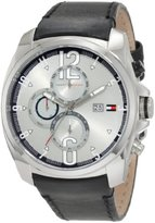 Tommy Hilfiger Men's 1790833 Sport Stainless Steel and black strap with Multifunction dial Watch