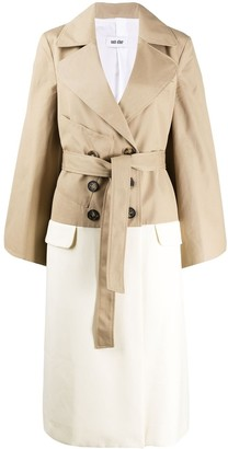 Each X Other Hybrid trench coat