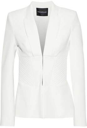 Nicholas Quilted Crepe Blazer