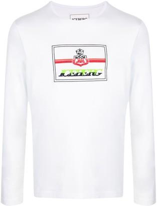 Iceberg logo print long sleeve T-shirt