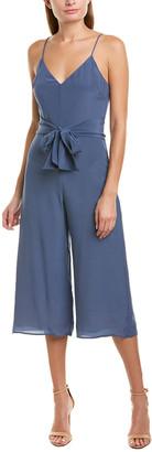 Lavender Brown Tie-Waist Silk Jumpsuit