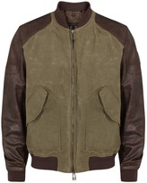 Belstaff Stradbrooke Leather And Cotton Blend Jacket