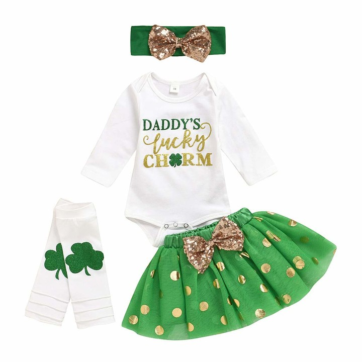 SHOBDW Girls Clothing Sets Bow Headband Party Photo Outfit Leg Warmers 3PCS Newborn Infant Baby Clothes Gifts Striped Romper