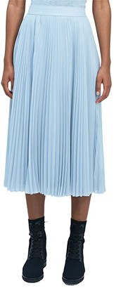 Kate Spade Sparkle Chiffon Pleated Skirt (Grey Matter) Women's Skirt
