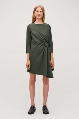 Cos Dress With Gathered Circle