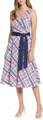 Eliza J Sleeveless Printed Midi Dress