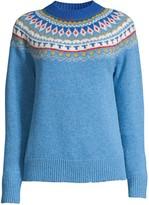 Tory Burch Fair Isle Jacquard Wool Sweater