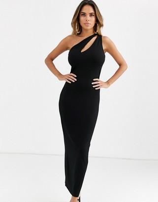 Asos Design DESIGN going out slash front maxi dress in black