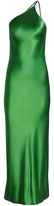 Galvan Roxy One-Shoulder Satin Dress