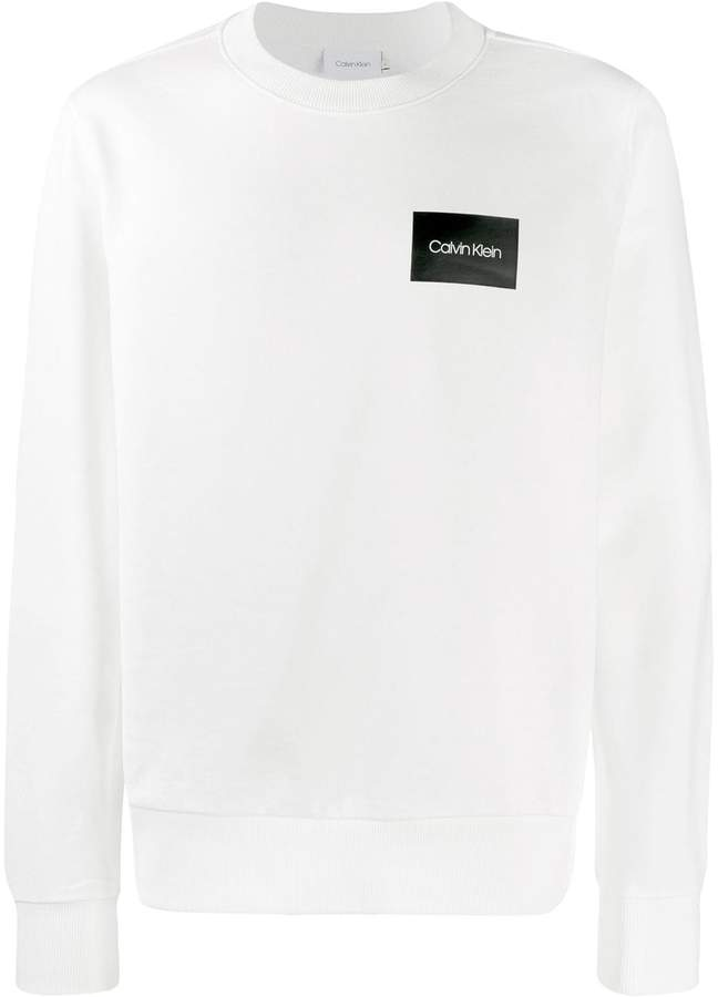Calvin Klein logo print crew neck sweatshirt