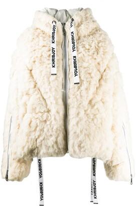 KHRISJOY Hooded Wool Padded Coat