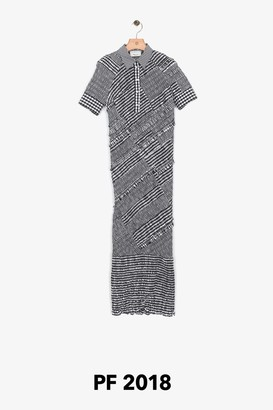 3.1 Phillip Lim Gingham Fitted Polo Midi Dress