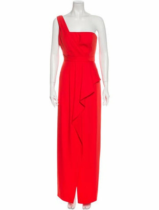 BCBGMAXAZRIA One-Shoulder Long Dress Orange One-Shoulder Long Dress
