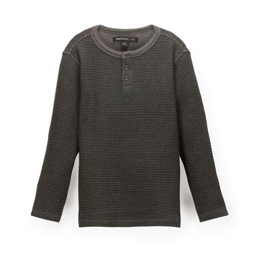 John Varvatos Kids - Boy's Henley Shirt - Green