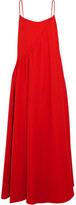 Adeam - Layered Crepe Gown - Tomato red