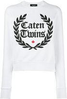 DSQUARED2 Caten Twins wreath sweatshirt - women - Cotton - S