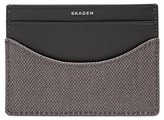 Skagen Men's Coated Twill Card Case - Grey