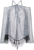 Derek Lam 10 Crosby sheer cut-detail blouse - women - Silk - 0