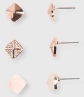 Pyramid Stud Earring 3-Pack