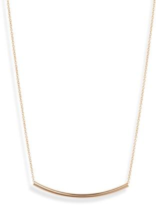 Sterling Forever Curved Bar Pendant Necklace