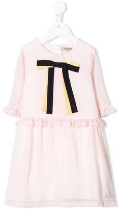 Hucklebones London bow ribbon tea dress