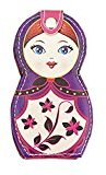 6 Pieces Stainless Steel Manicure Pedicure Beauty Tools with Russian Doll Case, C