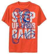 Super Mario Boys' Mario Step Up Your Game Activewear T-Shirt - Orange