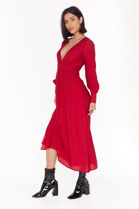 Nasty Gal Womens V Right Back Plunging Miaxi Dress - Red - 12