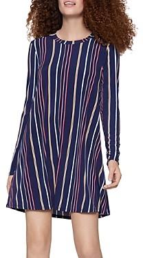 BCBGeneration Long-Sleeve Striped A-Line Dress